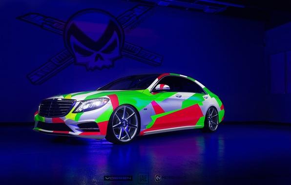 Picture Mercedes, Rainbow, Mercedes, Vossen, S-class, The flagship