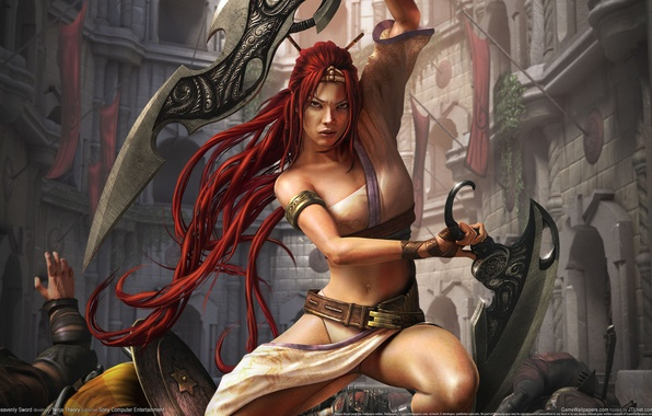 Picture girl, the city, warrior, Heavenly Sword