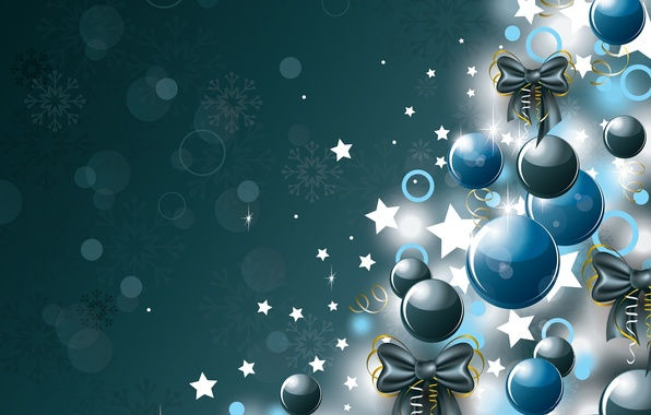 Picture decoration, balls, tree, New Year, Christmas, Christmas, balls, New Year, decoration