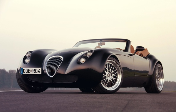 Picture Car, Black, Wallpaper, Wiesmann Roadster MF4/MF4-S