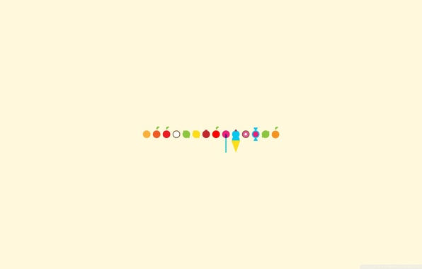 Picture background, lemon, apple, Apple, orange, coconut, minimalism, watermelon, ice cream, lime, Lollipop, lemon, fruit, candy, …
