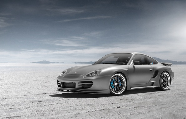 Picture desert, Porsche, silver, Porsche, Blik, front, silvery, 991, Widebody, 996, Top Secret, aerodynamic kit, SSR