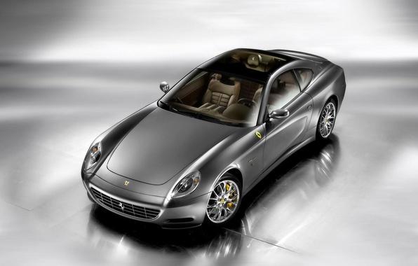 Picture Auto, Machine, Ferrari, Grey, Silver, The hood, Ferrari, Staglietti, The view from the top, Chrome, …