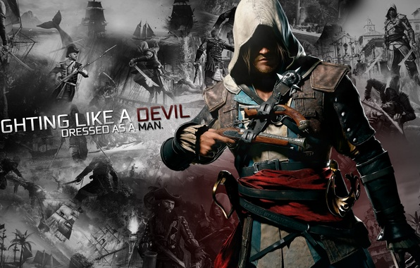 Picture black, pirate, ubisoft, flag, creed, assassins, kennway, collage, mastersebix, edward