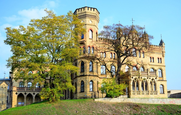 Picture trees, castle, Palace, Palace, Lithuania, Vilnius, Lithuanian Architects Union