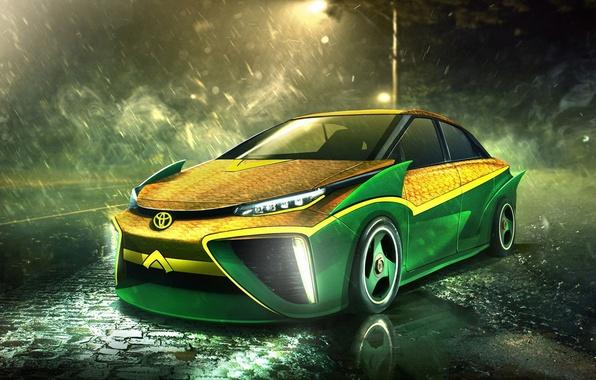 Picture auto, Superheroes, auto, superhero, Marvel, Toyota, Marvel, Aquaman, Aquaman, Toyota Mirai