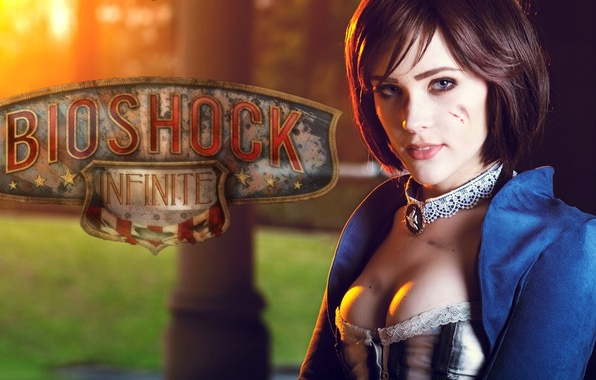 Photo wallpaper hairstyle, Irrational Games, beauty, Elizabeth, cosplay, 2K Marin, PlayStation 3, Bioshock infinite, Xbox 360, corset, ...
