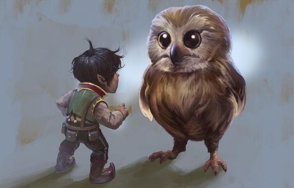 Photo Wallpaper Grumkin Owl Art Gary Laib Fantasy