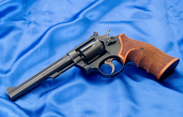 Picture Wallpaper, Weapons, Gun, Canvas, Revolver, Smith & Wesson, Smith Wesson, The handle, K22, K22