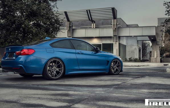 Picture BMW, Blue, Vorsteiner, F32, 103, Rear, 2015, 435i, V-FF, Estoril