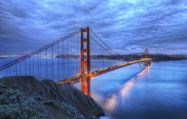 Picture bridge, river, Golden gate, CA, San Francisco