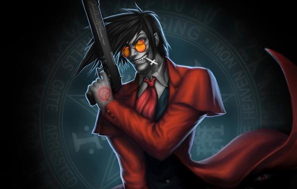 Picture Hellsing, anime, vampire, Alucard