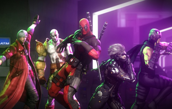 Picture dance, the demon, mask, villain, ninja, Ninja Gaiden, god of war, kratos, crossover, mercenary, deadpool, …