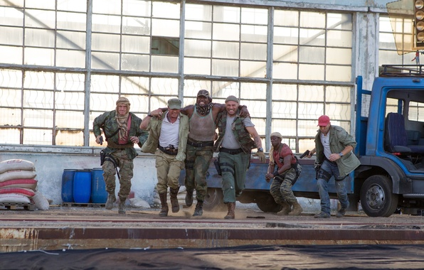 Picture Sylvester Stallone, Jason Statham, Terry Crews, Dolph Lundgren, Wesley Snipes, The Expendables 3, The expendables …