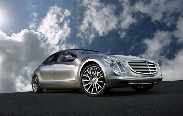 Picture Concept, the sky, clouds, reflection, Mercedes-Benz, F700