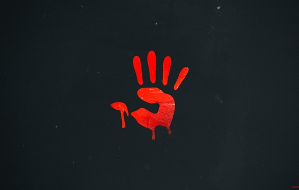 Picture style, hand, red, firm, imprint, bloody, mouse, red, a4tech