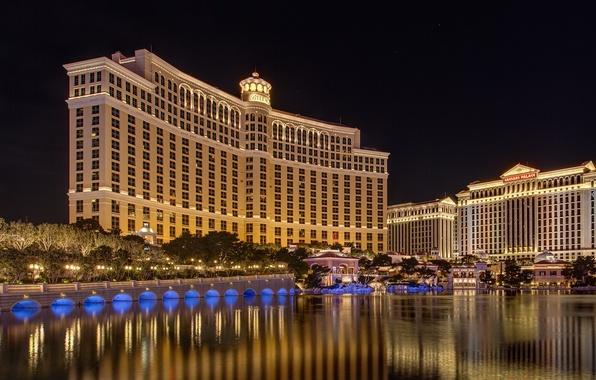 Picture night, lights, lighting, Las Vegas, USA, USA, the hotel, Nevada, night, Las Vegas, hotel, Nevada, …