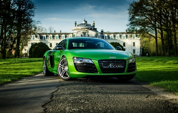 Picture the sky, trees, green, house, green, Audi, audi