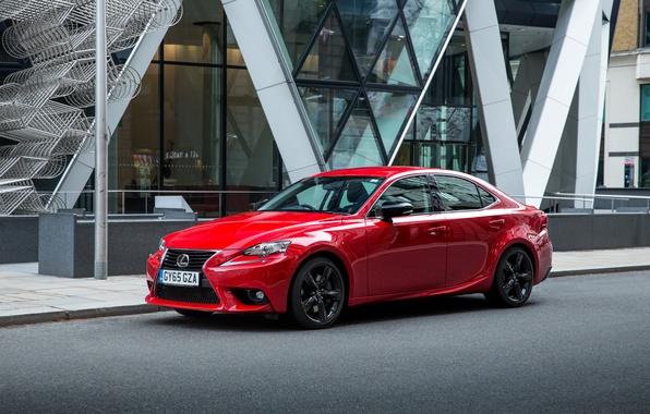 Picture red, Lexus, sedan, Lexus