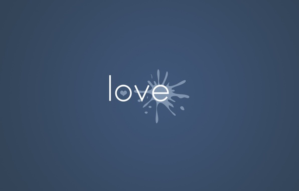 Picture Love, Minimalism, Love, Heart, Paint, Background, The inscription, Blot, The word