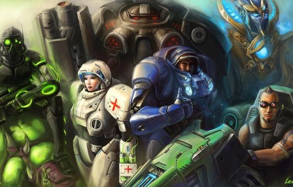 Picture Ghost, Marine, Terran, Medic, Starcraft, Protoss, Marauder, Vulture