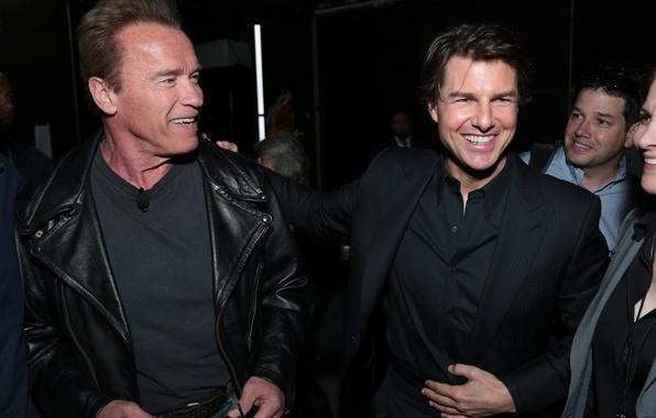 Picture joy, photo, celebrity, actors, smile, Tom Cruise, Arnold Schwarzenegger, Tom Cruise, Arnold Schwarzenegger