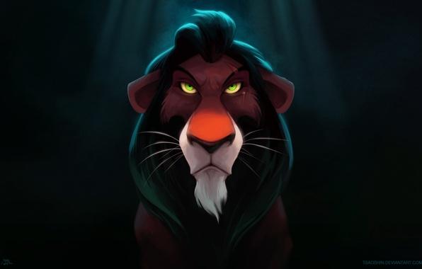Picture art, art, Scar, Lion King, be ready, Be Prepared, Scar