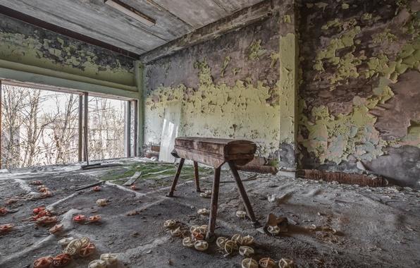 Picture horse, sport, hall, Chernobyl, Pripyat