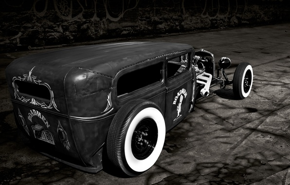 Picture road, retro, Ford, Ford, classic, roadster, 1929