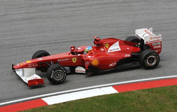 Picture formula 1, Ferrari, Ferrari, formula 1, 2011, Fernando Alonso, Fernando Alonso