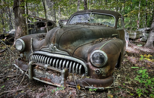 Picture machine, background, scrap, Buick