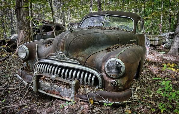 Picture machine, background, scrap, Buick