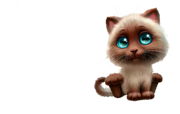 Picture cat, mood, figure, minimalism, art, kitty, neko, children's