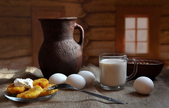 Picture food, eggs, milk, food, still life, composition