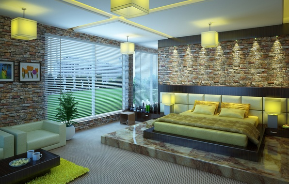 Picture design, house, style, room, interior, apartment, 3ds max, bedroom