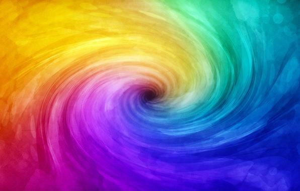 Picture color, light, paint, spiral, color, paint, spiral