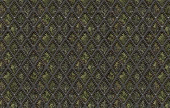 Picture metal, background, mesh, grille, texture, rhombus, corrosion