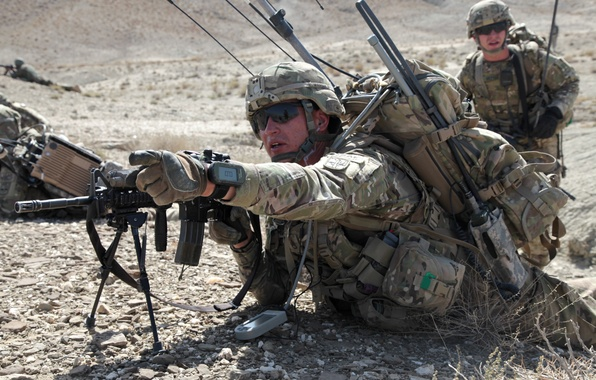 Picture mountains, stones, soldiers, Afghanistan, U.S., patrols, Sergeant James Wardl, The 172nd infantry brigade, Paktika province, …