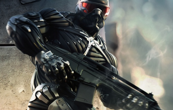 Picture weapons, people, nano, power, costume, Crysis