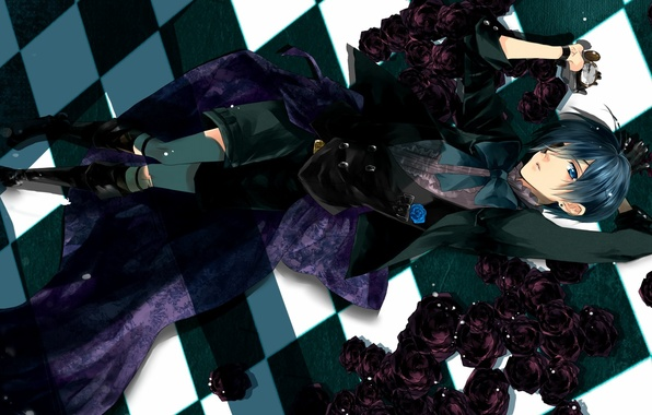 Photo Wallpaper Ciel Dark Butler Kuroshitsuji Guy Art Phantomhive