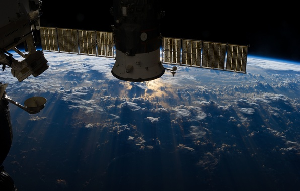 Picture clouds, Earth, ISS