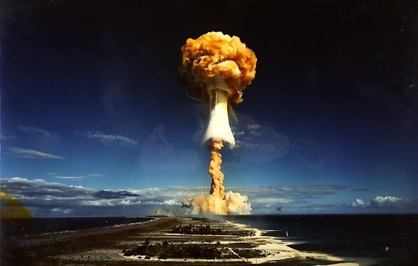 Picture the explosion, mushroom, nuclear