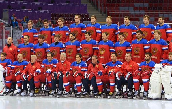 Picture Russia, Team, Hockey, Sochi 2014