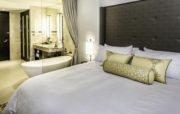 Picture comfort, bed, interior, apartment, Cavanna