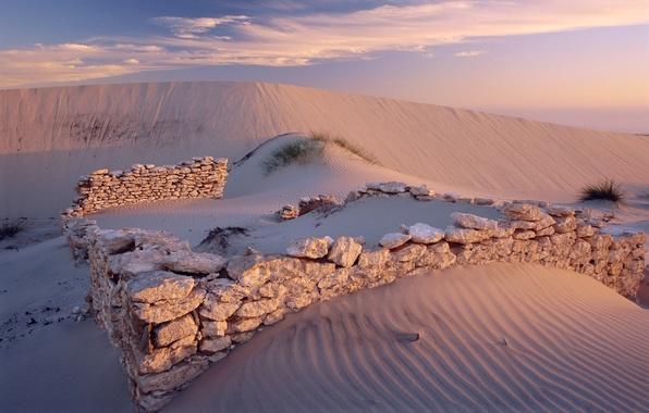 Picture sand, stones, desert