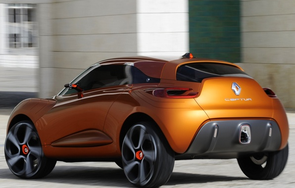 Picture auto, Concept, Wallpaper, Renault, Reno, back, Captur