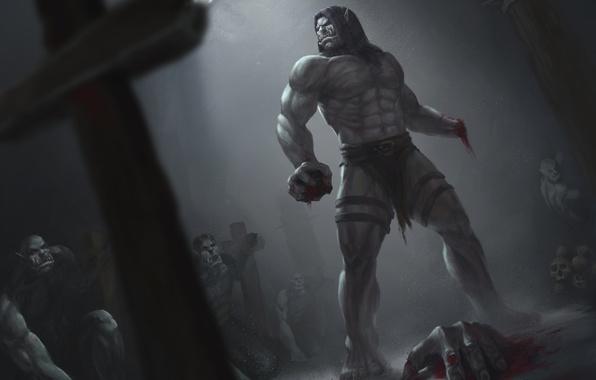 Picture blood, dark, hand, orcs, world of warcraft, warchief, Warlords of Draenor, Kargath Bladefist