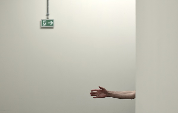 Picture wall, hand, output