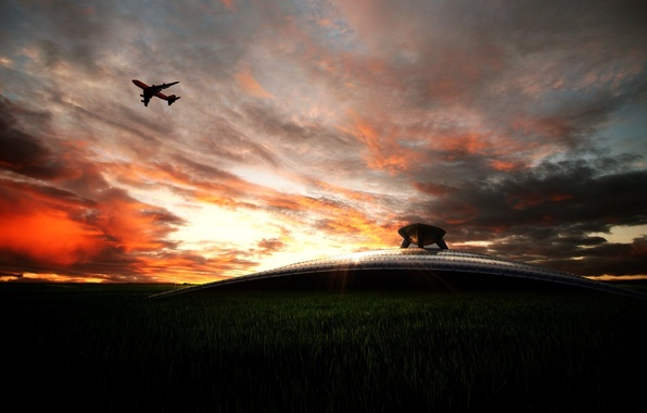 Picture the sky, aviation, transport, landscapes, technique, aircraft, airports