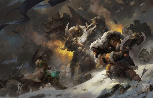 Picture WoW, Orc, warcraft, world of warcraft, Thrall, Warlords of Draenor, Go'el, Son of Durotan, Frostwolf …
